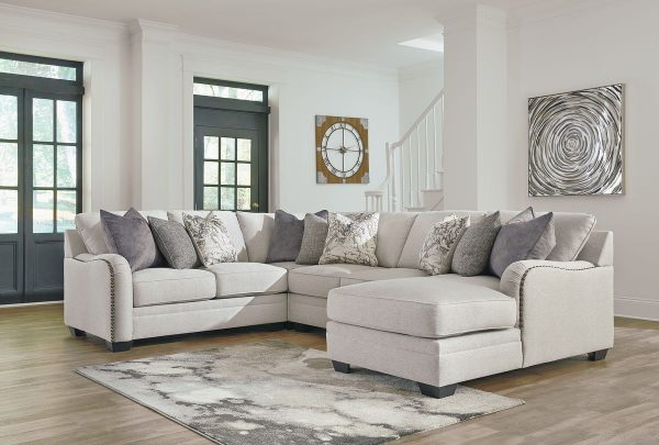 Dellara - Chalk - LAF Loveseat