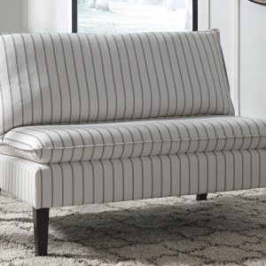 Arrowrock - White/Gray - Accent Bench