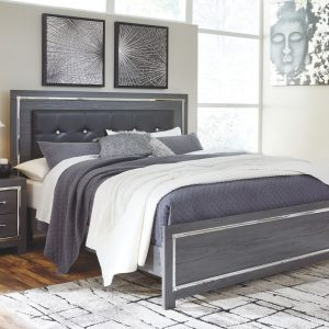 Lodanna - Gray - King Panel Bed