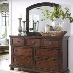 Porter - Rustic Brown - Dresser & Mirror
