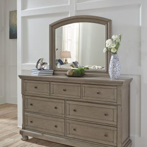 Lettner - Light Gray - Bedroom Mirror