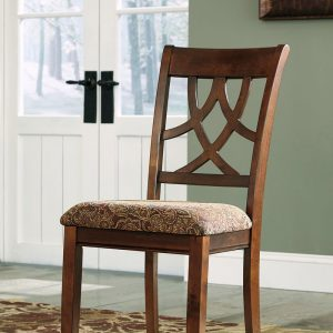 Leahlyn - Medium Brown - 6 Pc. - Round DRM Table & 4 UPH Side Chairs 1