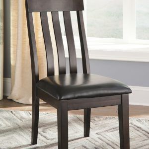 Haddigan - Dark Brown - 6 Pc. - RECT DRM EXT Table, 4 UPH Side Chairs & UPH Bench 1
