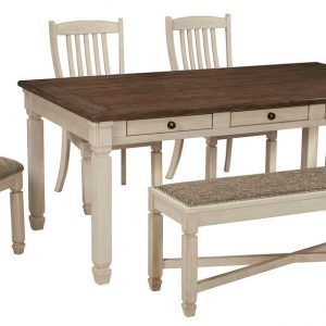 Bolanburg - Antique White - 6 Pc. - RECT DRM Table