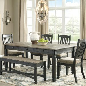 Tyler Creek - Black/Gray - 6 Pc. - RECT DRM Table