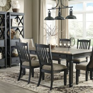 Tyler Creek - Black/Gray - 9 Pc. - RECT DRM Table