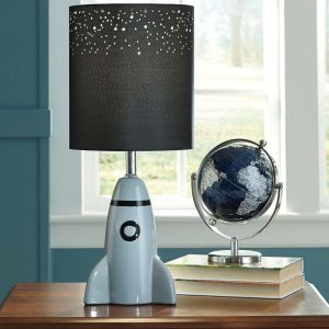 Cale - Gray/Black - Ceramic Table Lamp (1/CN)