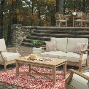 Clare View - Beige - Loveseat w/Cushion 1
