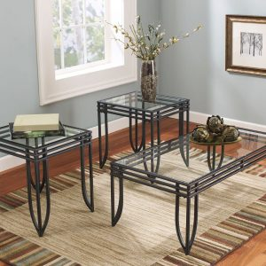 Exeter - Black/Brown - Occasional Table Set