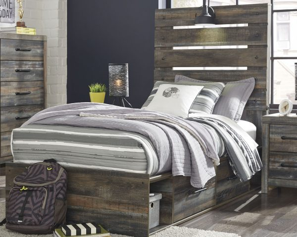Drystan - Multi - Twin Panel Bed with Storage