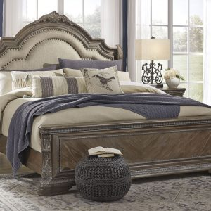 Charmond - Brown - California King Upholstered Sleigh Bed