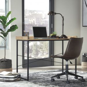Gerdanet - Light Brown - Home Office Desk with Swivel Chair
