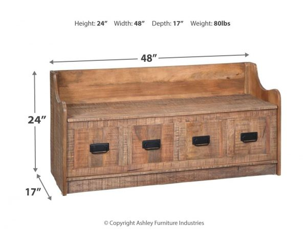 Garrettville - Brown - Storage Bench 2