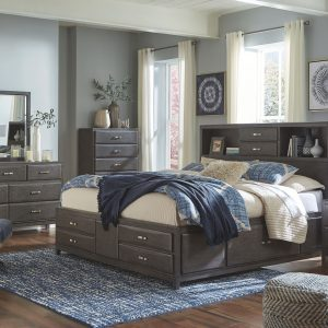 Caitbrook - Gray - King Storage Bed 1