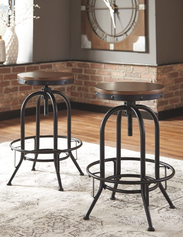 Valebeck - Brown/Black - Tall Swivel Barstool (2/CN)