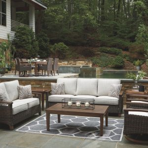 Paradise Trail - Medium Brown - Sofa with Cushion 1