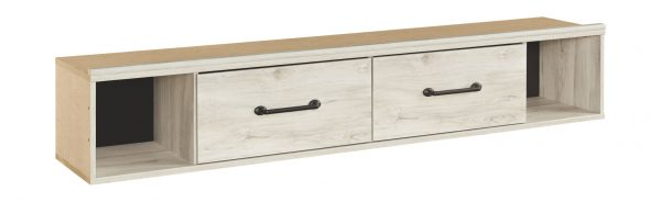 Cambeck - Whitewash - Twin Panel Bed with Side Storage 1