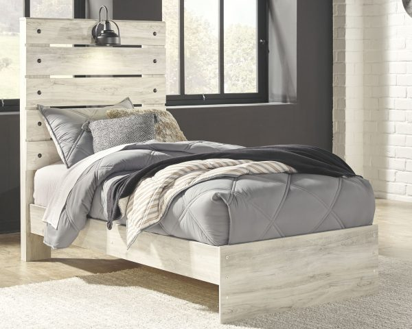 Cambeck - Whitewash - Twin Panel Bed