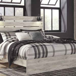 Cambeck - Whitewash - King Panel Bed