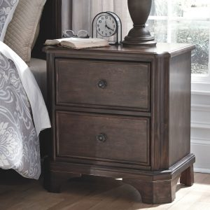 Adinton - Brown - Two Drawer Night Stand 1