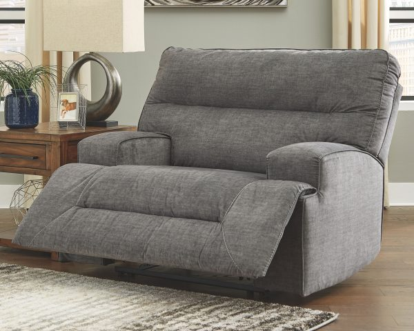 Coombs - Charcoal - Wide Seat Recliner 1