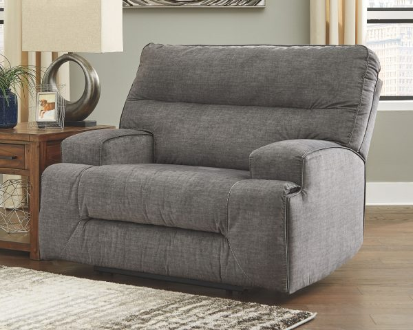 Coombs - Charcoal - Wide Seat Recliner