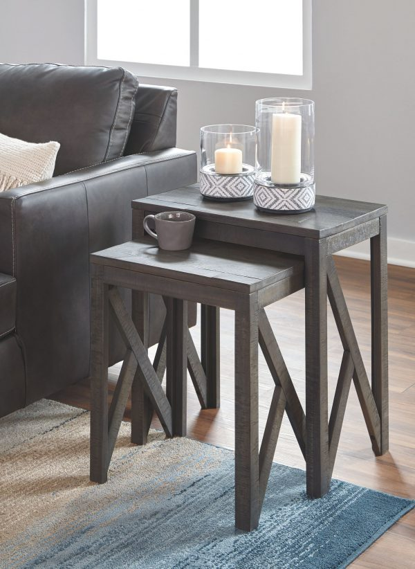 Emerdale - Gray - Accent Table Set (2/CN)