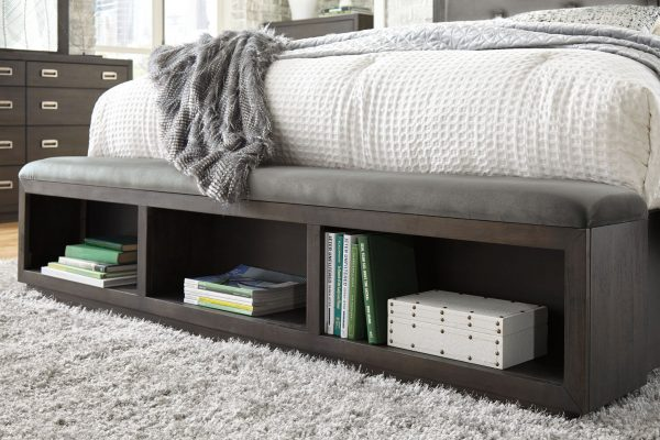 Hyndell - Dark Brown - California King UPH Panel Bed with Storage 2