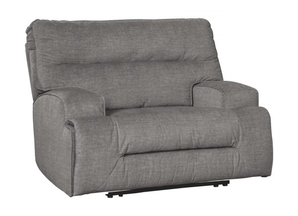 Coombs - Charcoal - Wide Seat Power Recliner