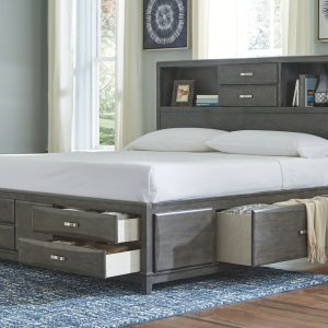 Caitbrook - Gray - California King Storage Bed