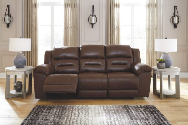 Stoneland - Chocolate - REC PWR Sofa & DBL REC PWR Loveseat with Console 1