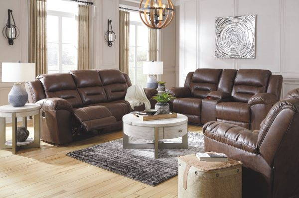 Stoneland - Chocolate - REC Sofa & DBL REC Loveseat with Console 5
