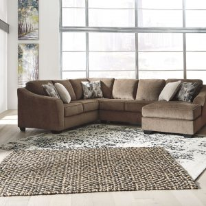 Graftin - Teak - LAF Sofa with Corner Wedge, Armless Loveseat & RAF Corner Chaise Sectional