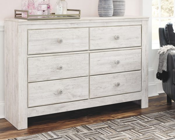 Paxberry - Whitewash - Dresser & Mirror 3