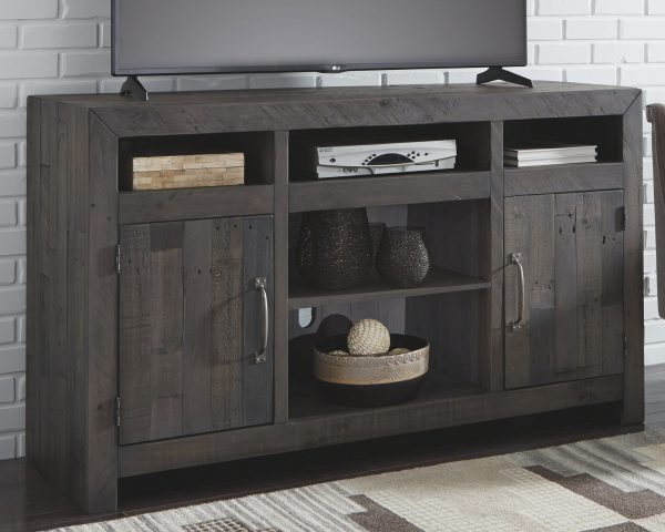 Mayflyn - Charcoal - LG TV Stand with Fireplace Insert Infrared 4