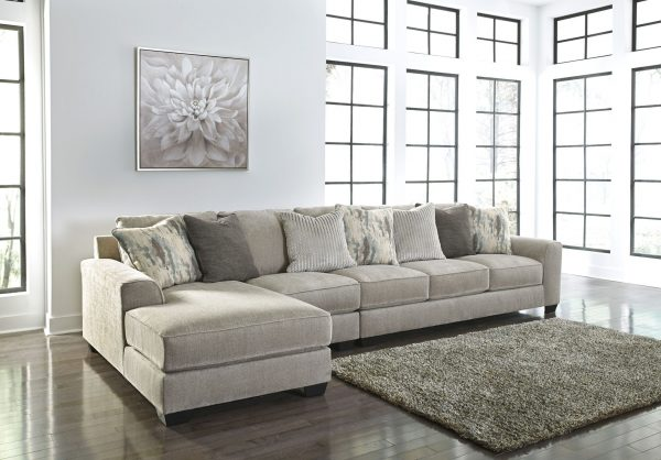 Ardsley - Pewter - LAF Corner Chaise, Armless Chair & RAF Sofa Sectional
