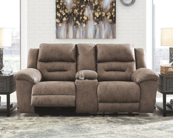 Stoneland - Fossil - REC PWR Sofa & DBL REC PWR Loveseat with Console 3