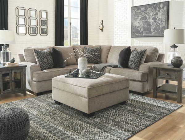 Bovarian - Stone - LAF Loveseat & RAF Sofa with Corner Wedge Sectional 1