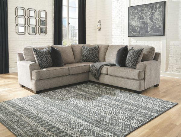Bovarian - Stone - LAF Loveseat & RAF Sofa with Corner Wedge Sectional