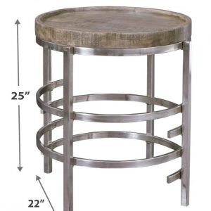 Zinelli - Gray - Round End Table 1