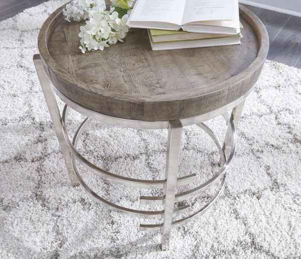 Zinelli - Gray - Round End Table 2