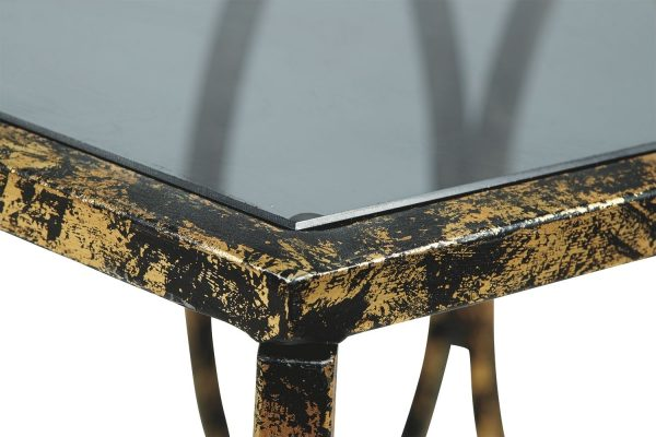Keita - Black/Gold Finish - Accent Table 3