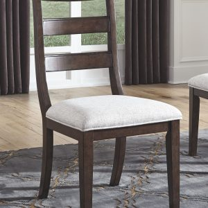 Adinton - Reddish Brown - 7 Pc. - Oval DRM EXT Table & 6 UPH Side Chairs 1