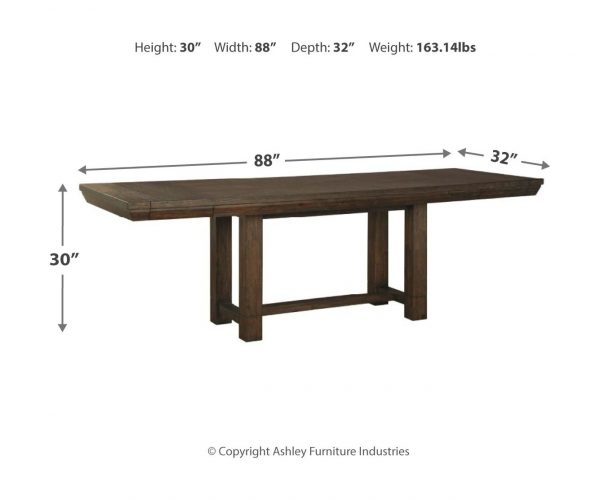 Dellbeck - Brown - RECT Dining Room EXT Table 2