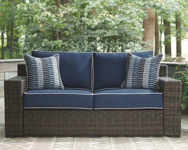 Grasson Lane - Brown/Blue - Lounge Set 2