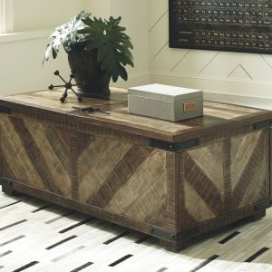 Cordayne - Rustic Brown - Rect Storage Cocktail Table