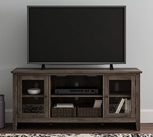 Arlenbry - Gray - LG TV Stand w/Fireplace Option