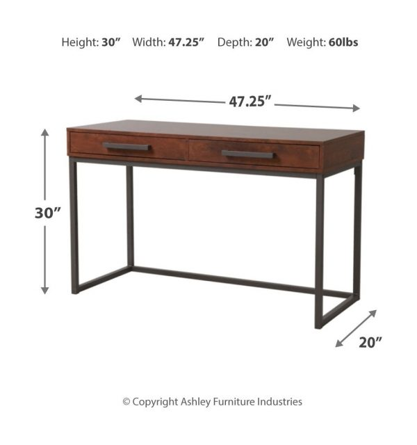 Horatio - Dark Brown - Home Office Small Desk 1