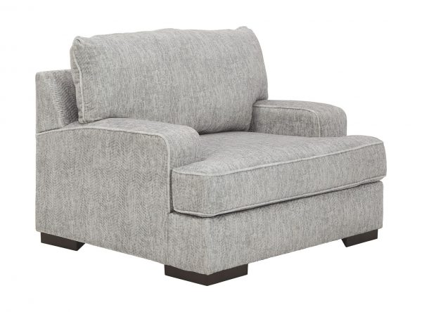 Mercado - Pewter - Chair and a Half with Ottoman 1