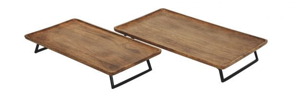Kaleena - Brown/Black - Tray Set (2/CN) 2